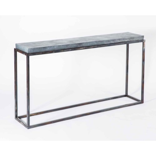 Brandon Console Table with Acid Washed Hammered Zinc Top