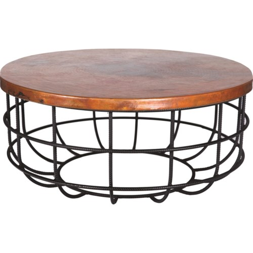 Marvelous Axel Coffee Table In Rebar With Round Hammered Copper Top Gamerscity Chair Design For Home Gamerscityorg