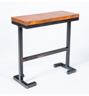 Bullock Accent Table with Natural Hammered Copper Top