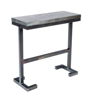 Bullock Accent Table with Hammered Zinc Top