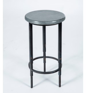 Nolan Accent Table  with Hammered Zinc Top
