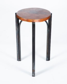 Preston Accent Table with Natural Hammered Copper Top