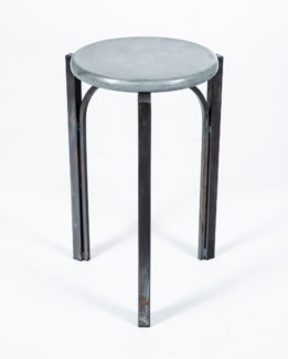 Preston Accent Table with Hammered Zinc Top