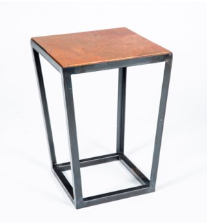 Tucker Accent Table with Natural Hammered Copper Top
