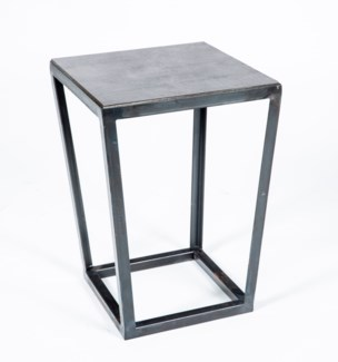 Tucker Accent Table with Hammered Zinc Top