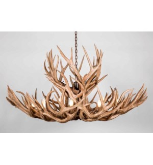 Olivia Antler Chandelier with 10 Lights in Café