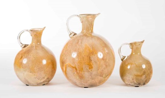 Set of 3 Pitchers in Cocoa Cream Finish