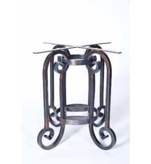 """Curled Leg Round Dining Base Only Table for 48"""" Top"""