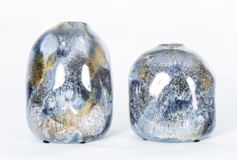 Large Rock Urn in Looking Glass Finish