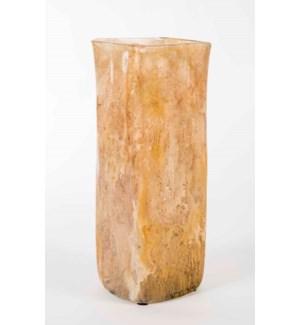 Rectangle Vase in Cocoa Cream