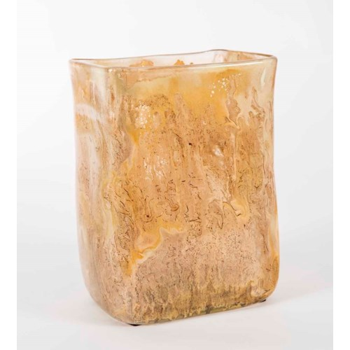 Large Rectangle Vase in Cocoa Cream