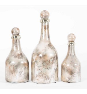 Set of 3 Bottles w/Tops in Monarch Finish