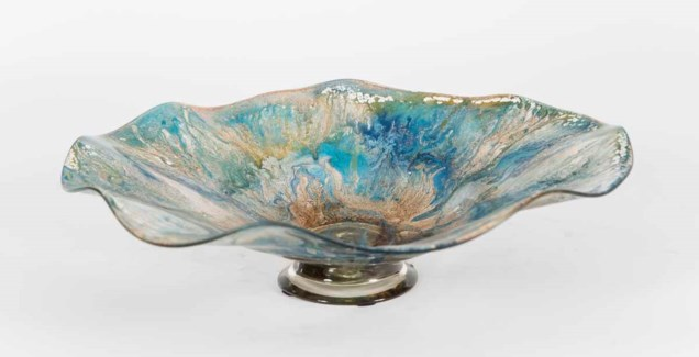 Large Wave Bowl in Meadowbrook Finish
