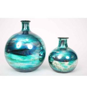 Large Bulb Vase in Aruba Finish