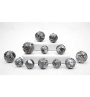 Set of 12 Spheres in Polar Ice Finish