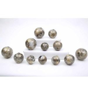 Set of 12 Spheres in Eureka Finish