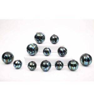 Set of 12 Spheres in Waterloo Finish