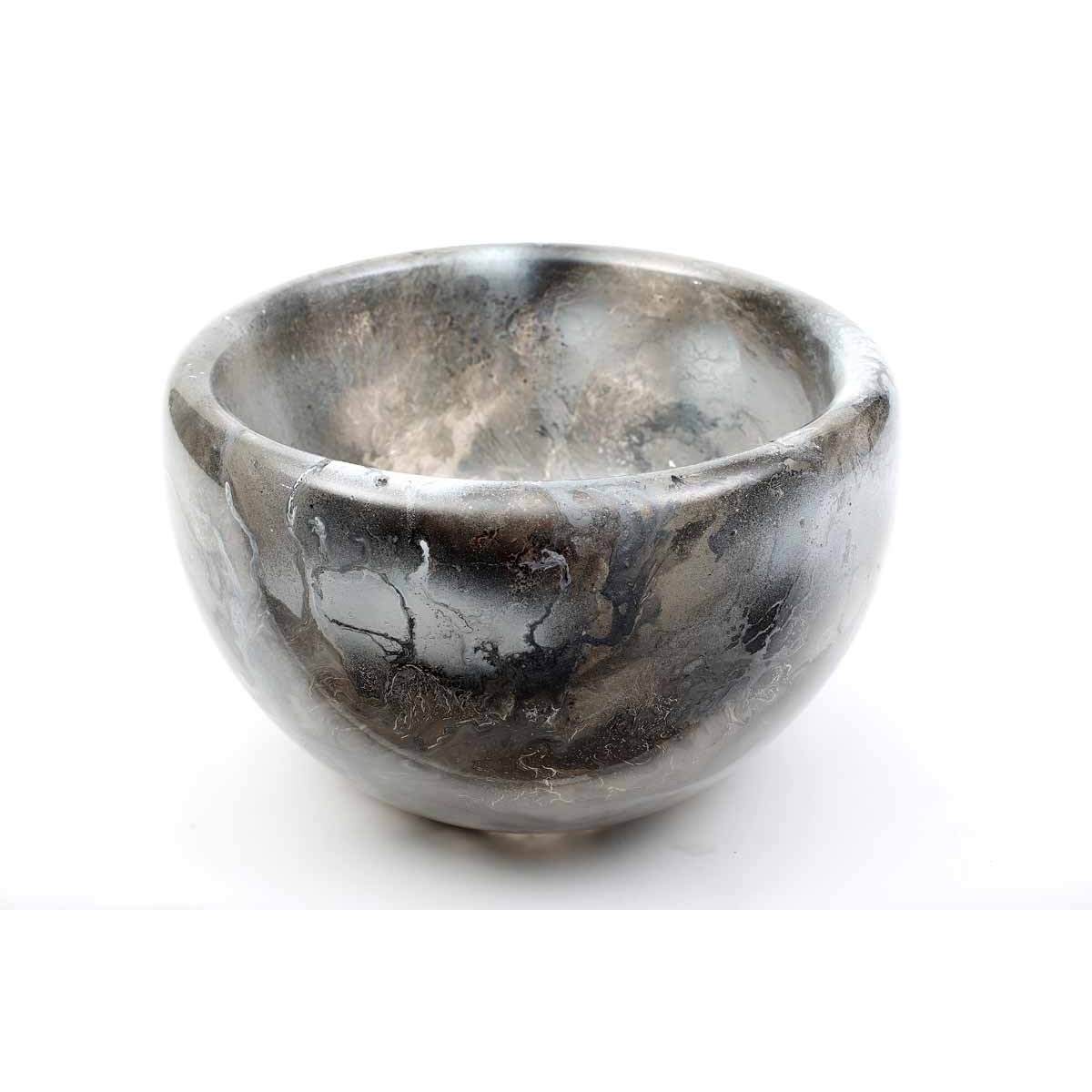 Double Sided Bowl in Polar Ice Finish