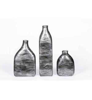 Tall Square Bottle in Ashland Slate Finish
