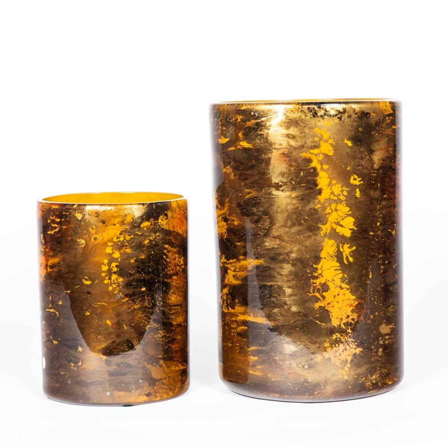 Large Cylinder Vase in Topaz Finish