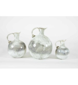 Set of 3 Jars in Thundering Clouds Finish