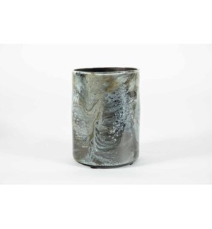 Small Cylinder Vase in Dakota Finish