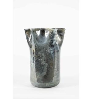 Large Ruffle Vase in Dakota Finish