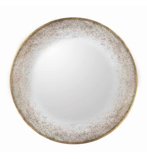 Round Wall Mirror with Aura Accent