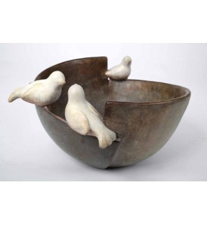 Bowl w/3 Bird Accents