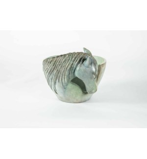 Curved Horse Bowl