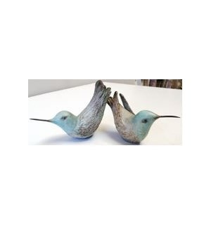 Set of 2 Hummingbirds in Robin's Egg
