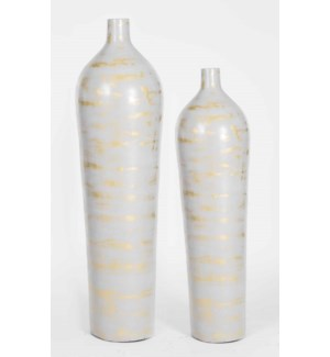 Large Tibor Floor Vase in Armadillo Finish