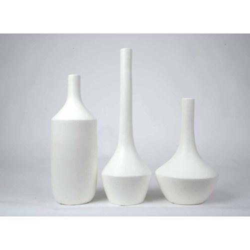 Large vase in Bianca Finish