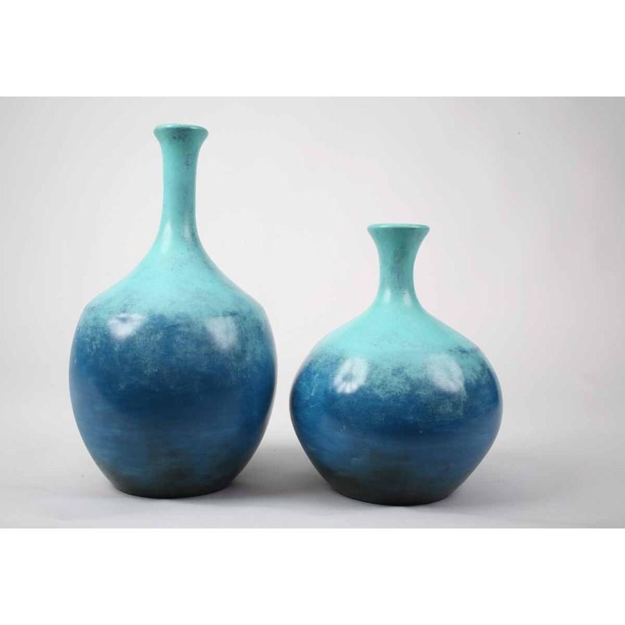 Large Mercer Vase in Ocean View Finish