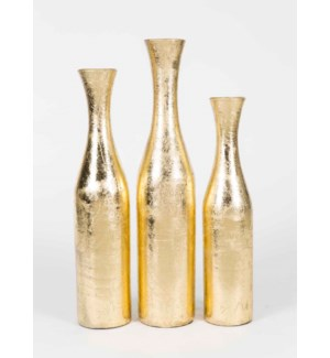 Set of 3 Bottles in Gold Finish