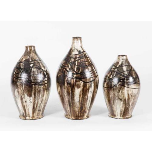 Set of 3 Table Bottles in Africa Finish