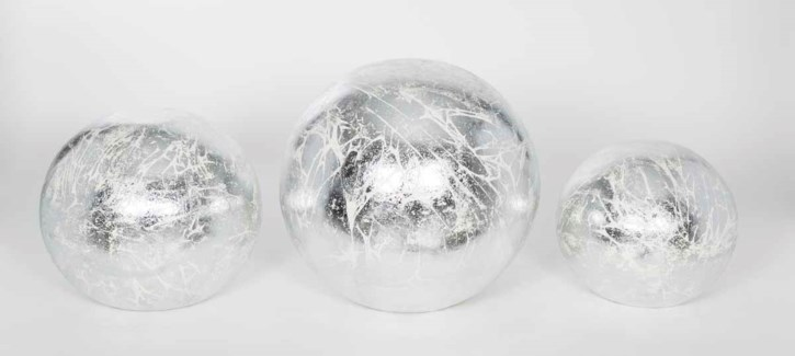 Set of 3 Table Spheres in Sterling Finish