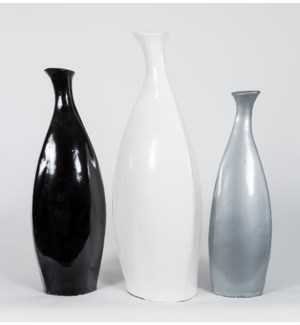 Set of 3 Floor Vases in Cloud, Shadow, and Pearl Finish