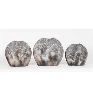 Set of 3 Moon Vases in Cocoa Finish