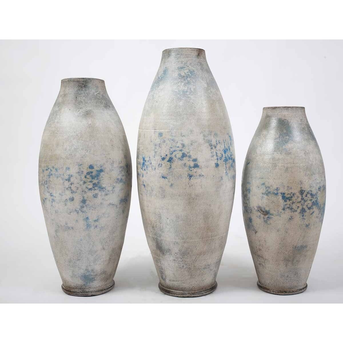 Set of 3 Floor Jars in Tradewind Finish