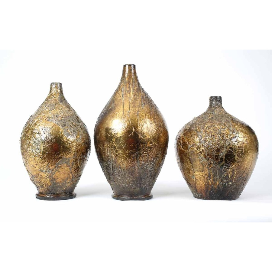Set of 3 Table Bottles in Sands Of Time Finish