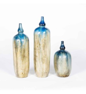 Set of 3 Floor Jars in Cosmic Dust Finish