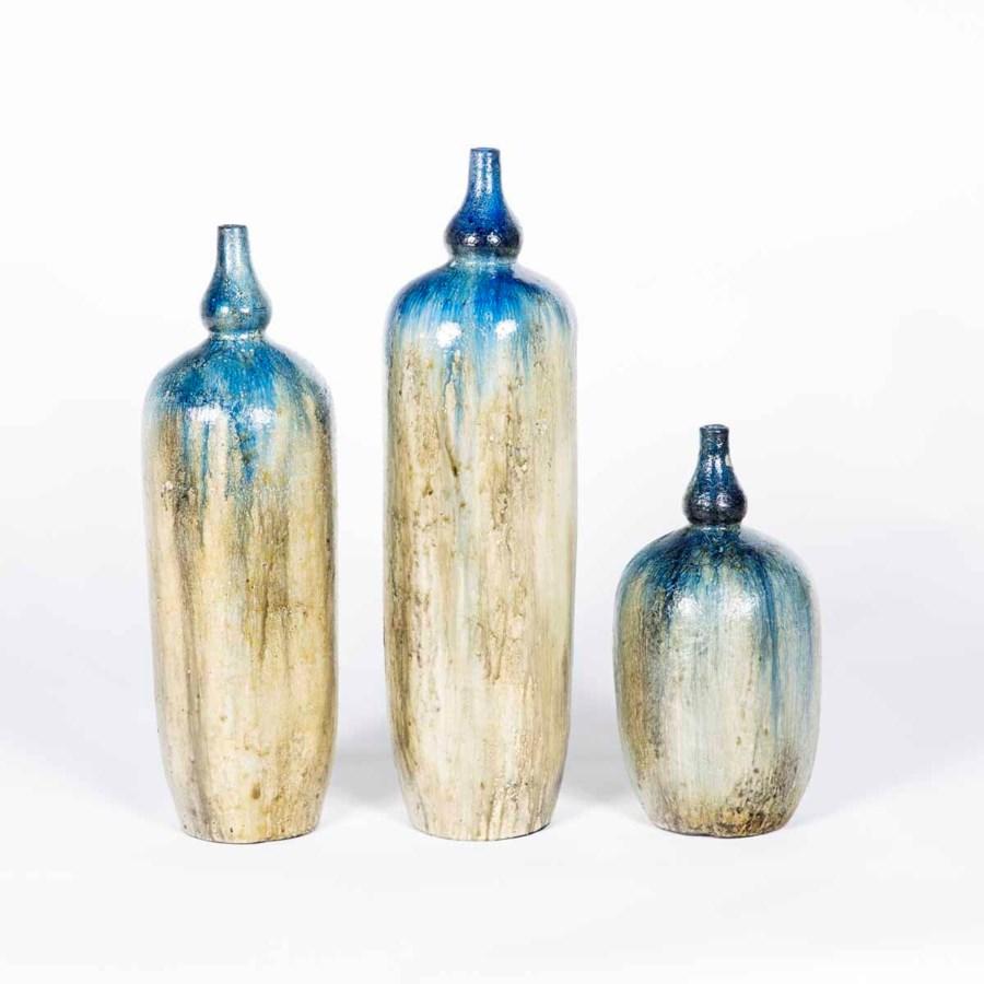 Set of 3 Floor Jars in Cosmic Dust Finish