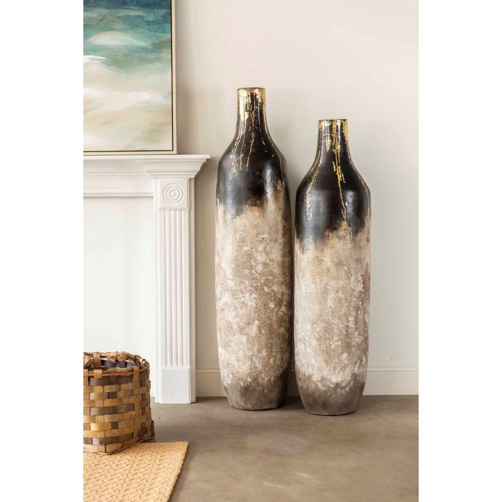 Set of 2 Floor Bottles in Iron Gate Finish