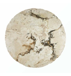 Cream Marble Table Top with Black Onyx Veins