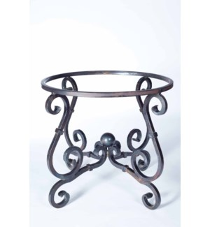 French Square End Table Base Only