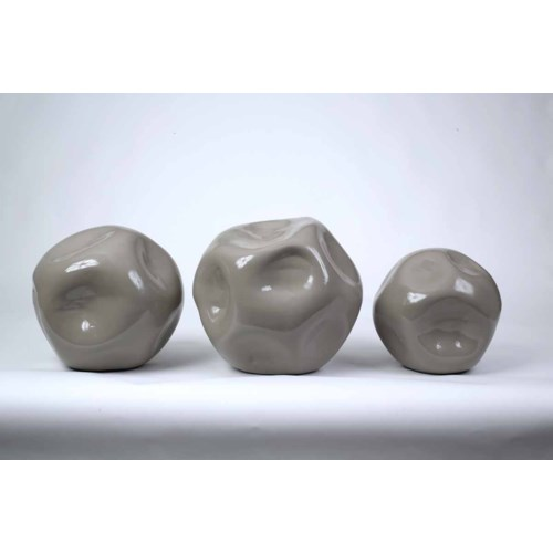 Moon Stones Set of 3 Spheres in Twilight