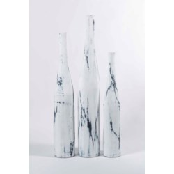 Set of 3 Floor Vases in Thunder Struck Finish
