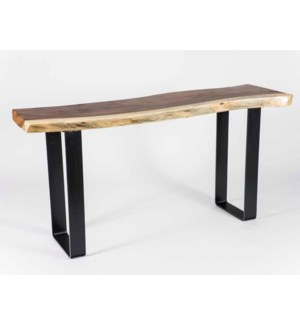 Live Edge Parota Wood Console Table