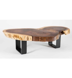 Live Edge Parota Wood Coffee Table
